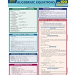 ALGEBRAIC EQUATIONS QUIZZER (LAMINATED CHART)