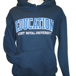 Education hoodie - navy, charcoal, or athletic grey