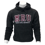 MRU black galaxy fleece pullover hoodie - front applique in burgundy, grey, gold, pink, lavender or green