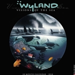 2018 WYLAND VISIONS OF THE SEA WALL CALENDAR