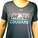 NEW COUGARS UA WOMEN'S GAME TIME T-SHIRT - NAVY