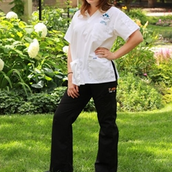 #312P Black flip flap scrub pants