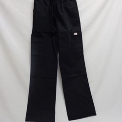 #844 - Hip-flip drawcord elastic nursing pant - black
