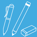 Icon of pen and pencil