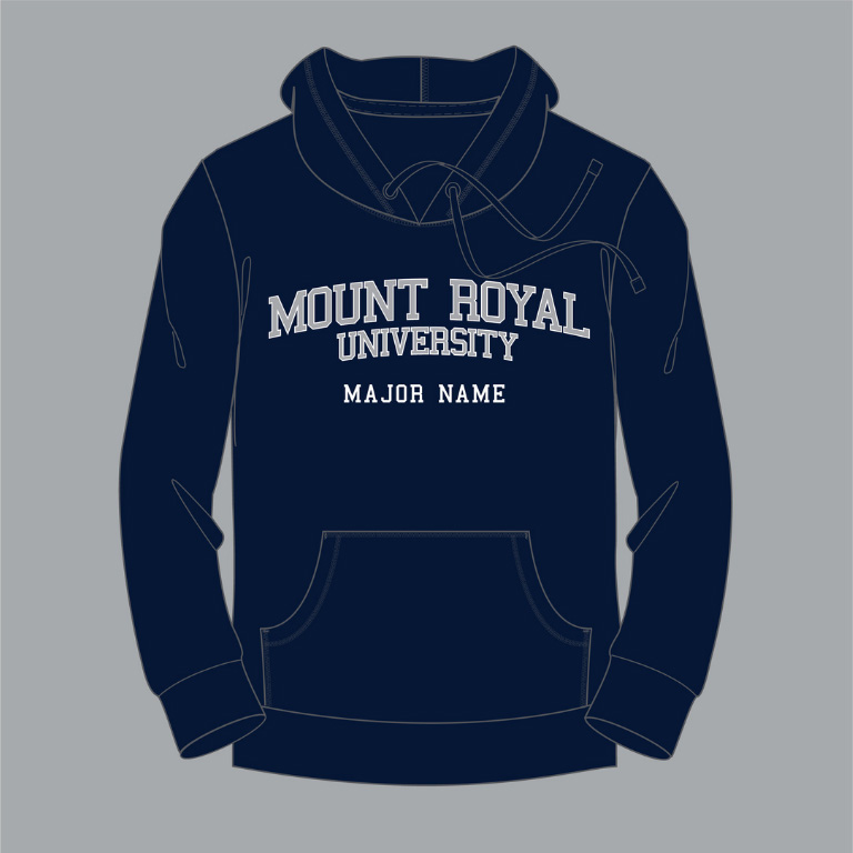 Photo of Mount Royal branded shirt, scarf, toque and ornaments.