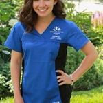 #324T ROYAL Blue MRU scrub top with side panels