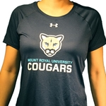 NEW COUGARS UA WOMEN'S LOCKER T-SHIRT - NAVY