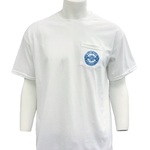 MOUNT ROYAL WHITE COMPASS POCKET TEE
