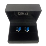 Chevron Enamel Cufflinks