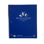 MRU Imprinted 1 Subject Notebook Dark Blue