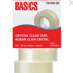 Basics Clear Tape Refill 3/4""