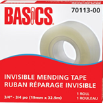 Basics Invisble Mending Tape Refill 3/4""