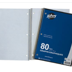 Hilroy 1 Subject 5MM Quad Notebook 80 PGS
