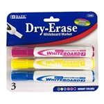 Dry Erase Markers Chisel Tip Bright Colors 3 Pack