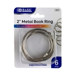 "2"" Metal Book Rings - 6"